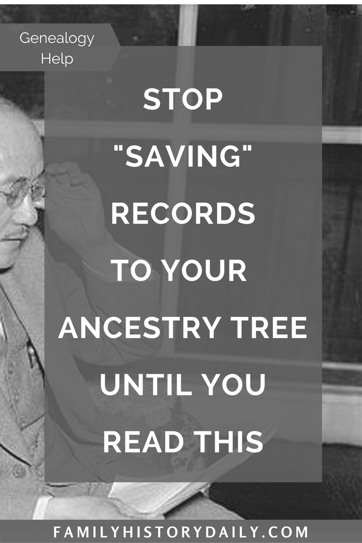 """Read this before """"saving"""" any more records to your Ancestry tree."""