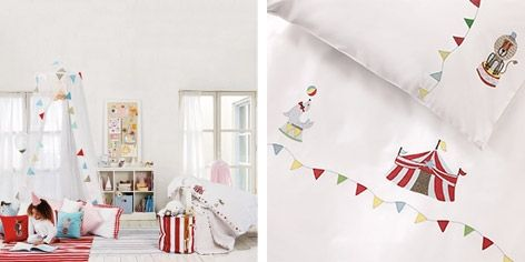 Love this! Circus Bed Linen from The Little White Comapny