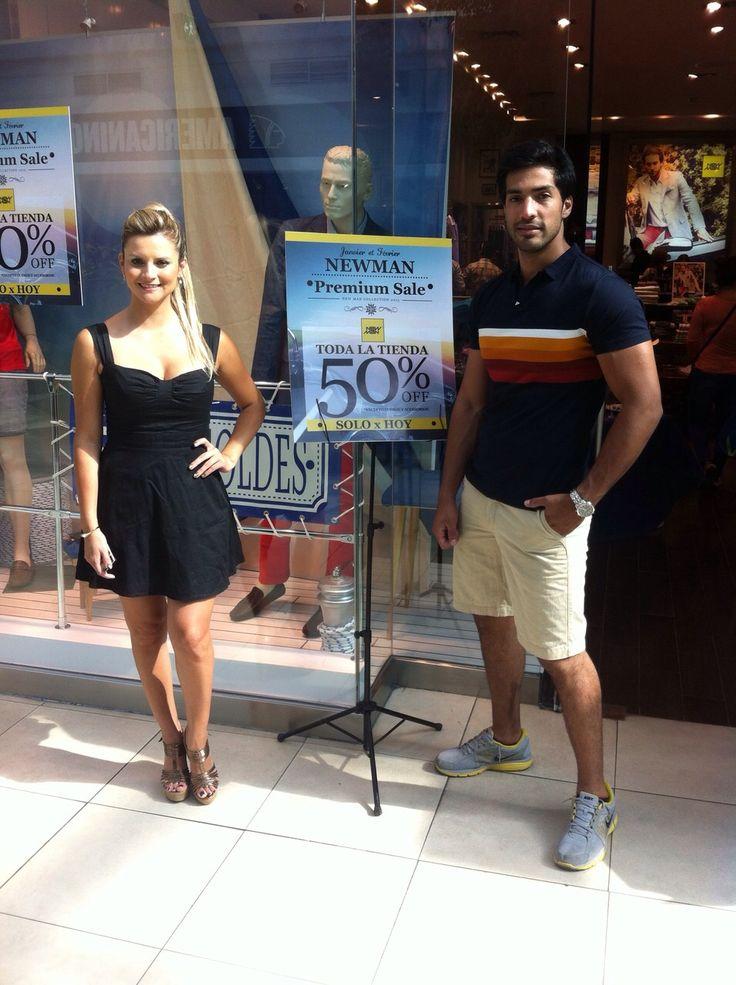 """Exitoso """"PREMIUM SUMMER SALE"""" Mall Plaza Trebol, 50%off en toda la tienda. www.newmanchile.cl"""