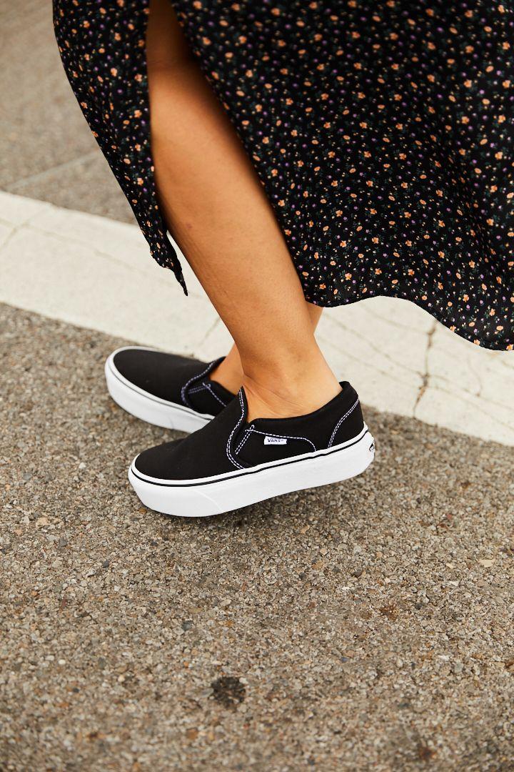 Vans Asher Platform Slip-On Sneaker - Women's | Platform slip on ...