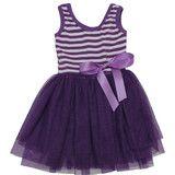 Beyond Cute Dress - Purple/White