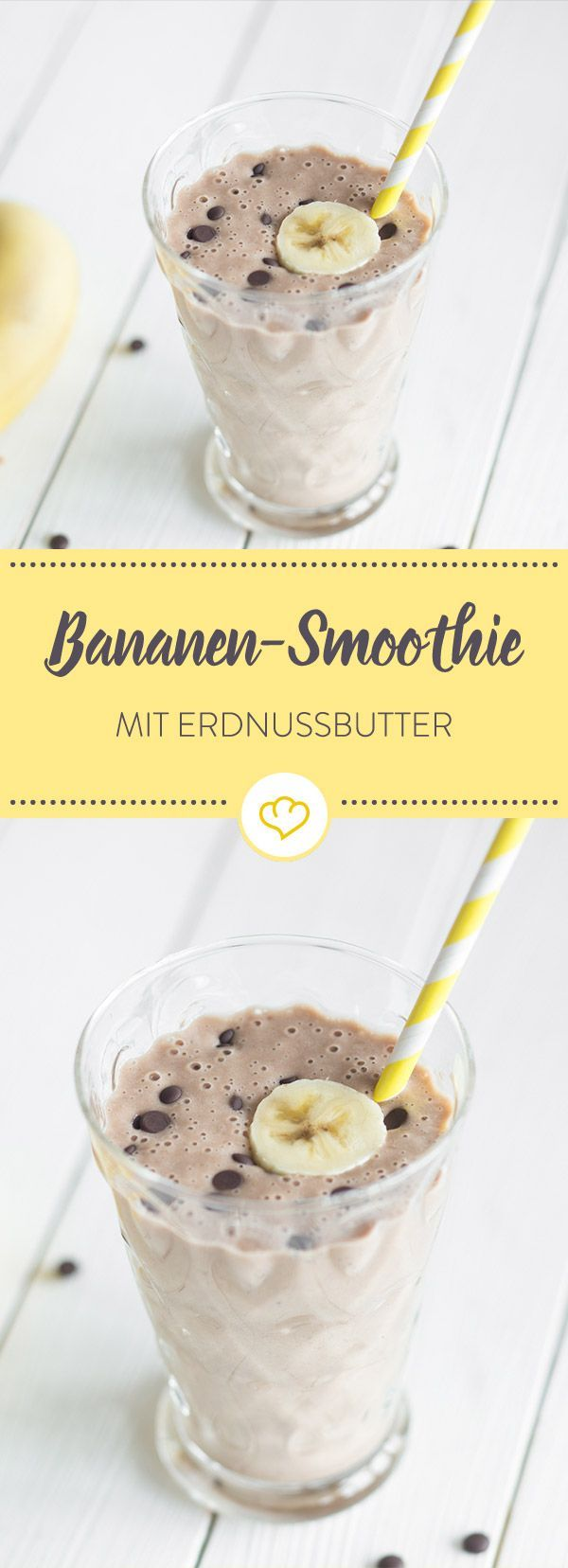So lecker wie eine heiße Schokolade, so erfrischend wie ein kalter Kakao. On top: süße Bananen und cremige Erdnussbutter. Smoothie mit Suchtpotenzial! (Breakfast)