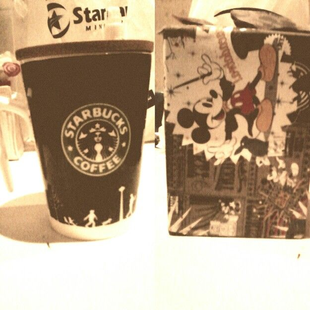 Starbucks Glass as a present.