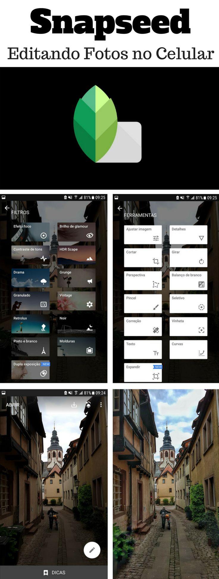 Como usar o Snapseed, o melhor App para editar e aprimorar suas fotos no celular, disponível para iPhone e Android.