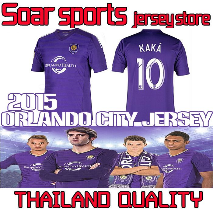 Купить товарTthai качество 2015 орландо пайретс футбол джерси 14 15 орландо сити главная фиолетовый футбол футболки кака 10 джеррард пользовательские бесплатная доставка в категории Майки спортивныена AliExpress.