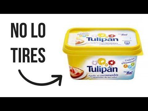 No tires esto - Manualidades con envase de Mantequilla - YouTube