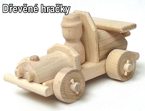 Dřevěné hračky, závodní autíčko pro nejmenší děti