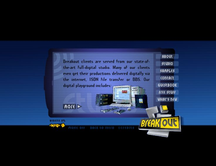 Breakout website in 2001