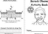 Barack Obama Activity Book, A Printable Early-Reader Book - EnchantedLearning.com