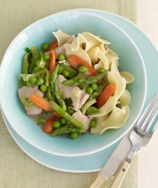 Spring Vegetable & Chicken Stew... (207 calories) http://www.womansday ...