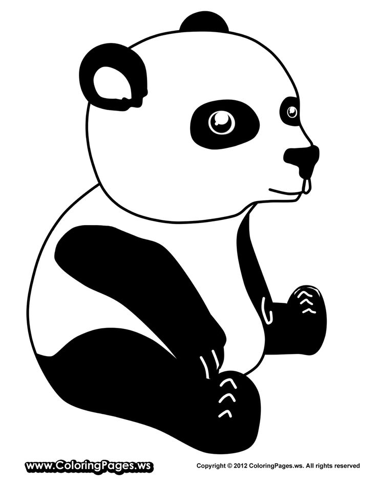 25 best ideas about Panda coloring