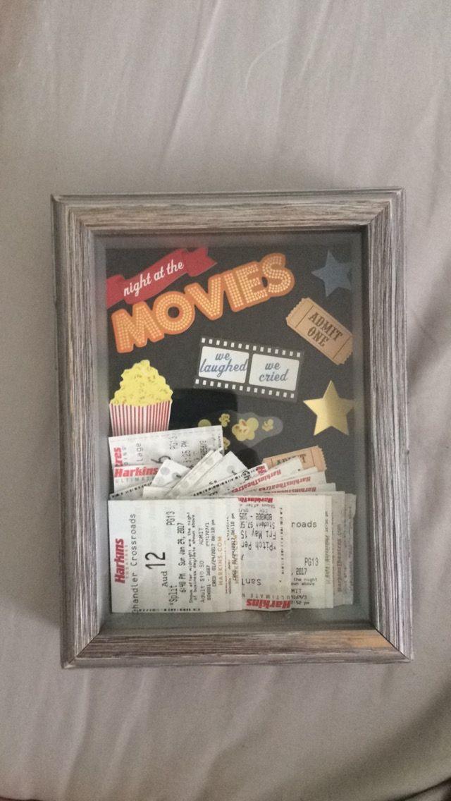 shadow box movie ticket holder