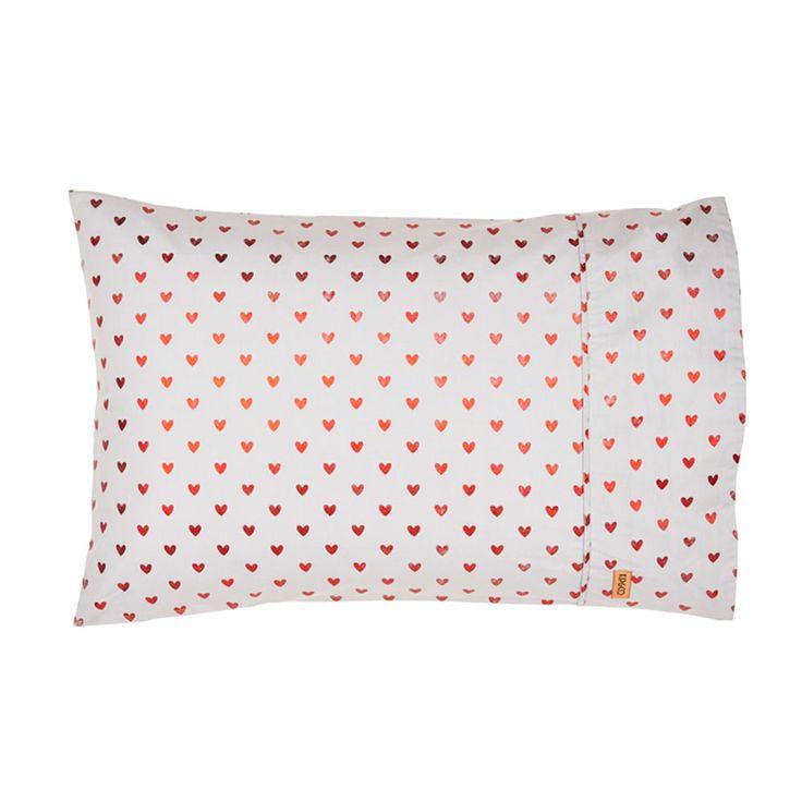 Kip & Co   SS15 Heart Ache Pillowcase – 1P