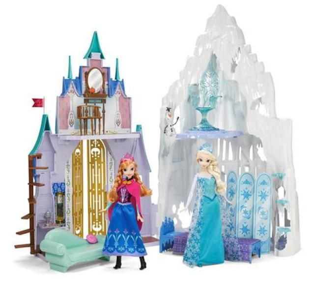 Tips on Assembling Mattel's Frozen Castle featuring Anna's Castle and Elsa's Ice Castle, as seen on Toys.About.com