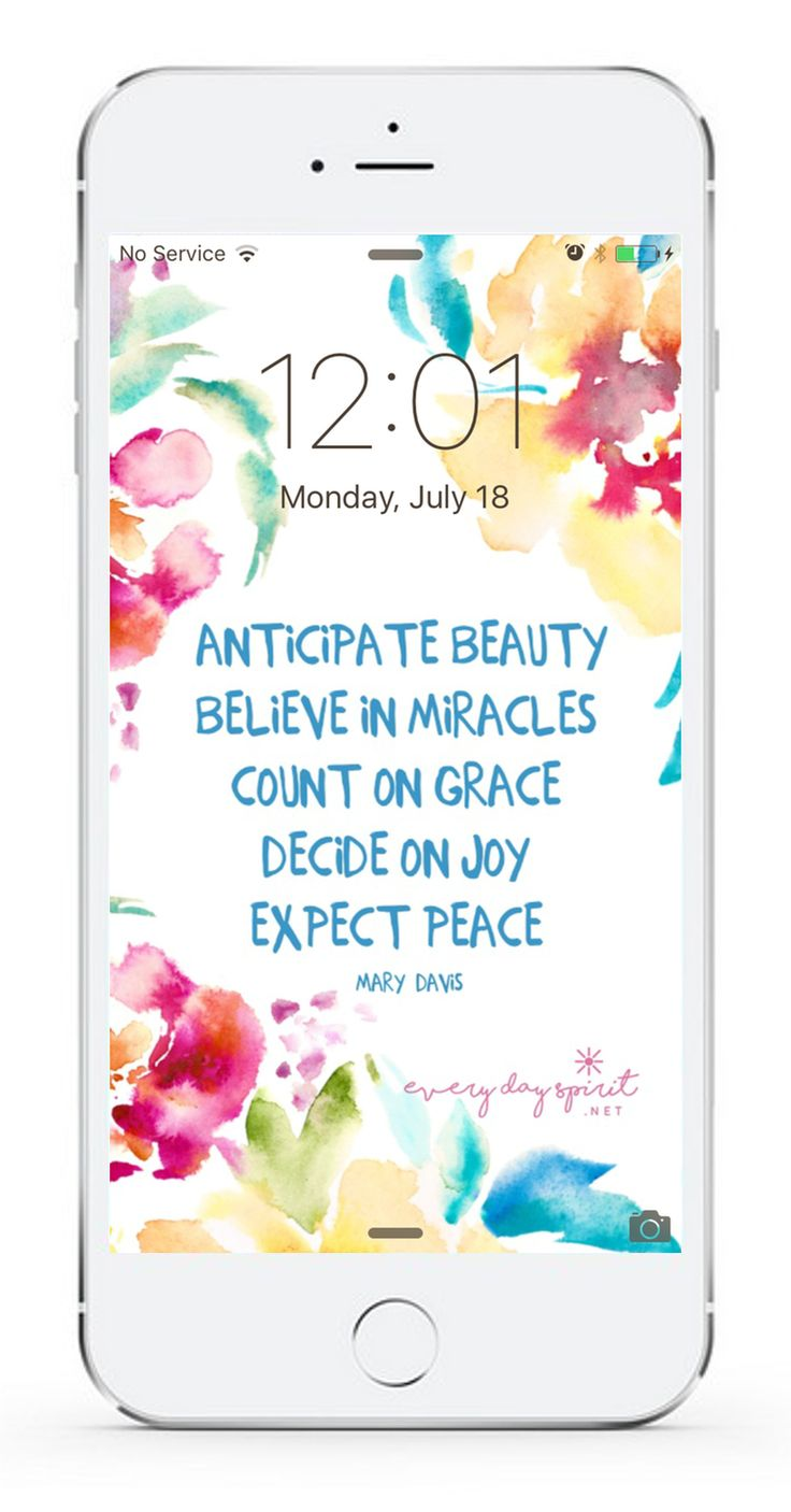 Over 750 beautiful wallpapers that inspire. Every Day Spirit Lock Screens. Fill your screen with love, joy, kindness, gratitude and peace. For iPhone and Android. www.everydayspirit.net xo