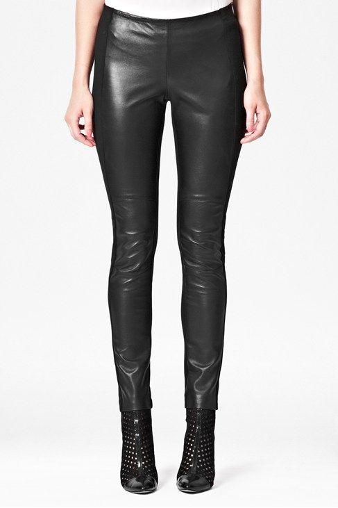 Styling Up - Megan Leather Biker Leggings - Leggings - French Connection