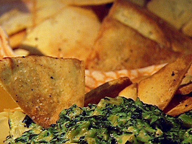 Homemade Pita Chips recipe from Patrick and Gina Neely via Food Network