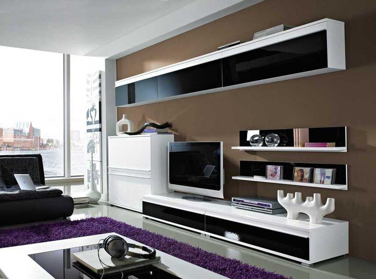 25+ best ideas about tv wand schwarz on pinterest | tv wand ... - Wohnzimmer Design Schwarz Weis
