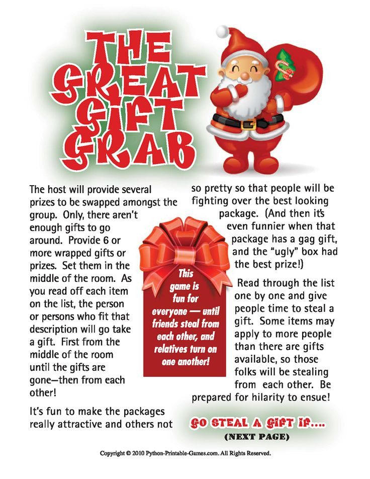 Gift grab christmas gift exchange game christmas pinterest