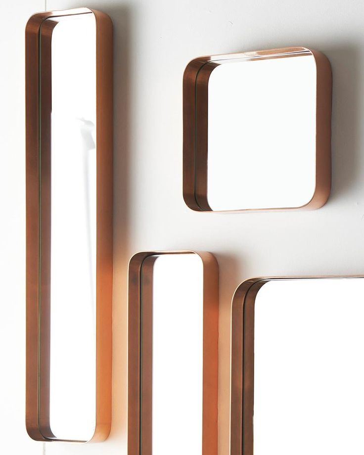 Kelly - Copper Framed Rectangular Wall Mirror, Medium | Free Delivery