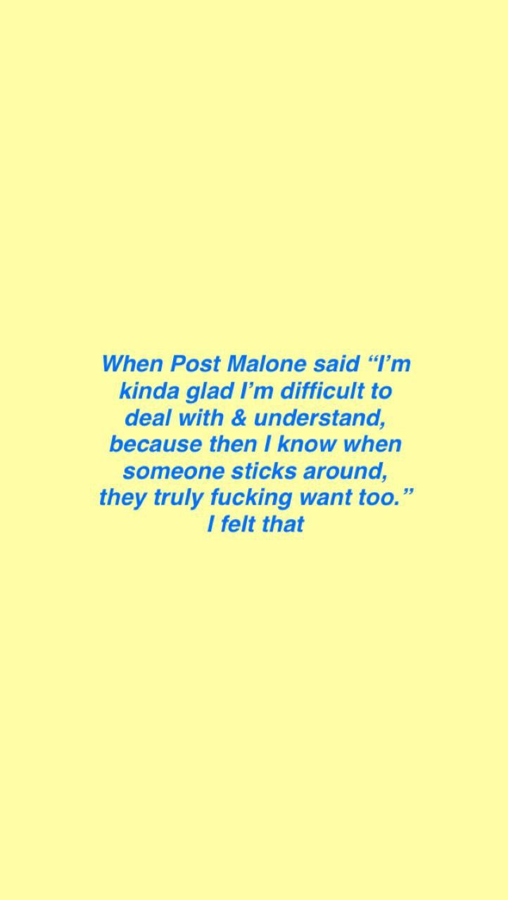 Post Malone Lyric Quoteslyrics Post Malone Quotes Post Malone