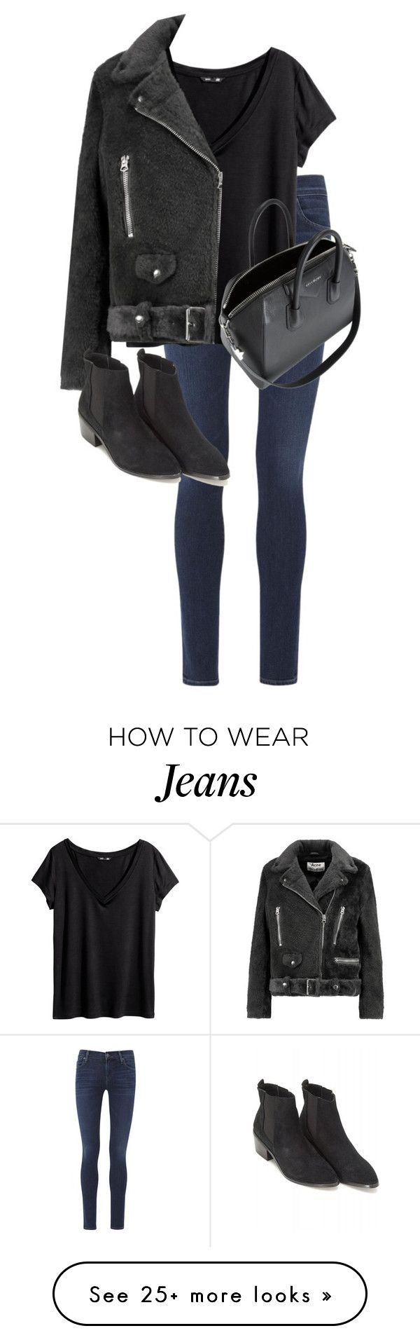 """Untitled #10197"" by alexsrogers on Polyvore featuring Citizens of Humanity, H&M, Acne Studios, Sol Sana and Givenchy"