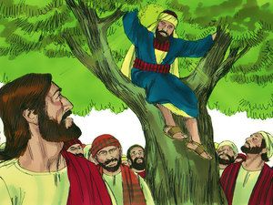 Zacchaeus The Tax Collector Luke 19 1 10 Free Visuals