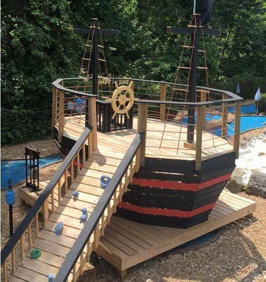 2 level wood pirateship plan #playhousebuildingplans ...