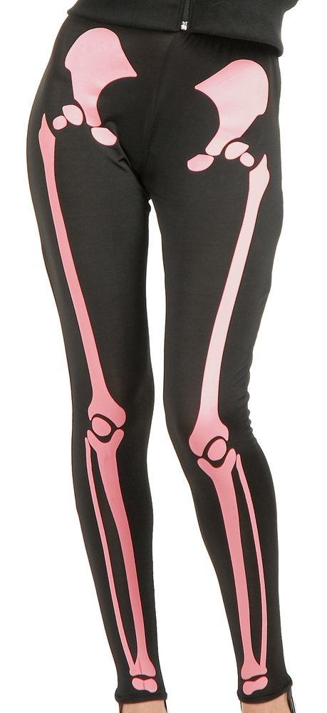 Womens Pink Skeleton Leggings only $17!!