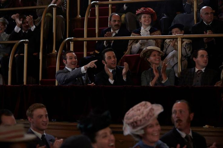 Higgins (Lachlan Murdoch) and Crabtree (Jonny Harris) take in the vaudeville show.