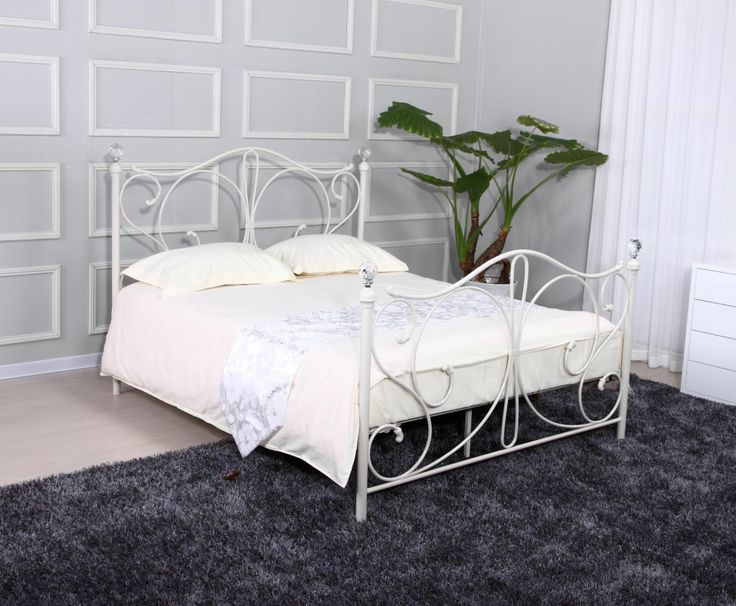 full white metal bed frames empoli white metal bed frame 7 day express delivery