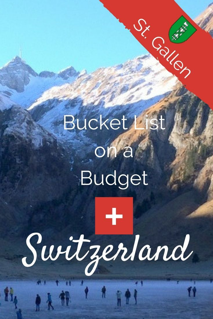 Bucket List on a Budget: St.Gallen, Switzerland. I'm your Switzerland travel guide. Find out what's free & cheap and where to sleep! via /https/://www.pinterest.com/Captiv8Compass/