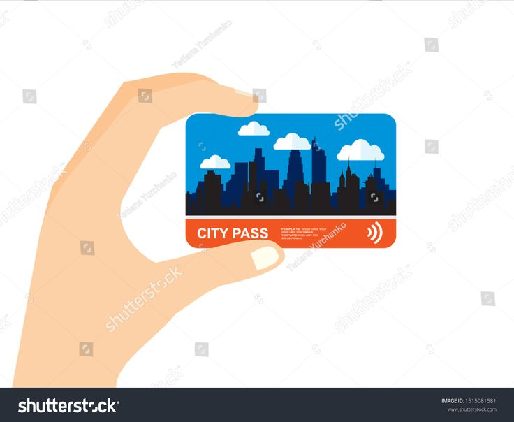 Hand With City Pass Bus Train Subway Travel Ticket With Cashless Payment System Card With Map Of City With Roa Ad Affilia City Pass Travel Tickets City