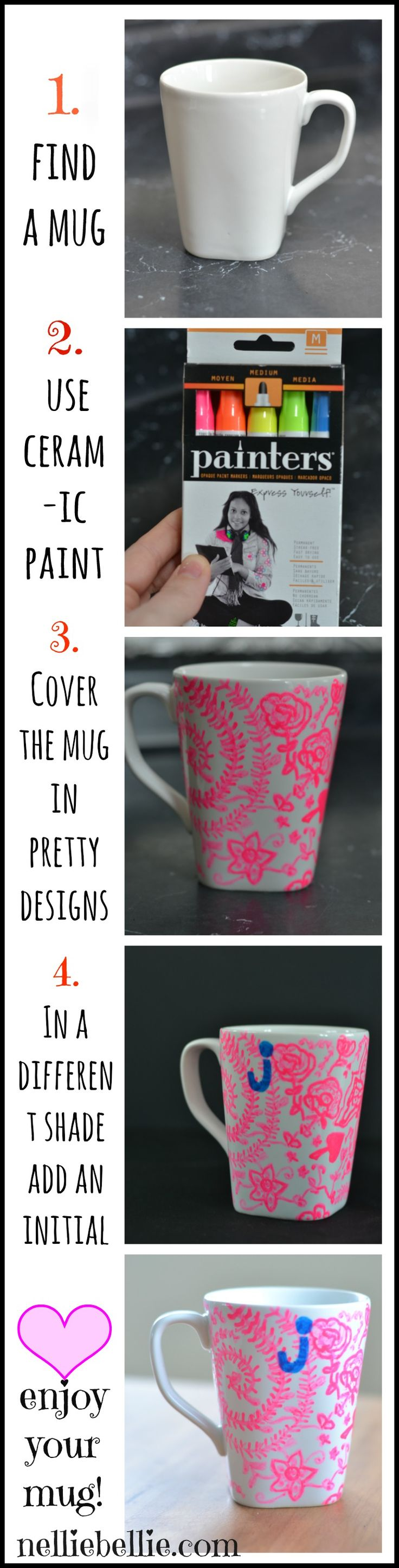 Make an Anthropologie knock-off mug with Nellie Bellie
