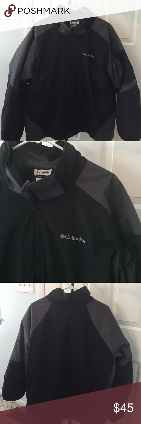 Columbia Men's 3-in-1 Interchange jacket XL men's 3-in-1 interchange Columbia jacket.  Does not have the hood that attaches.  Black/gray.  In GUC.  Pic of removed inner jacket is last pic. Columbia Jackets & Coats