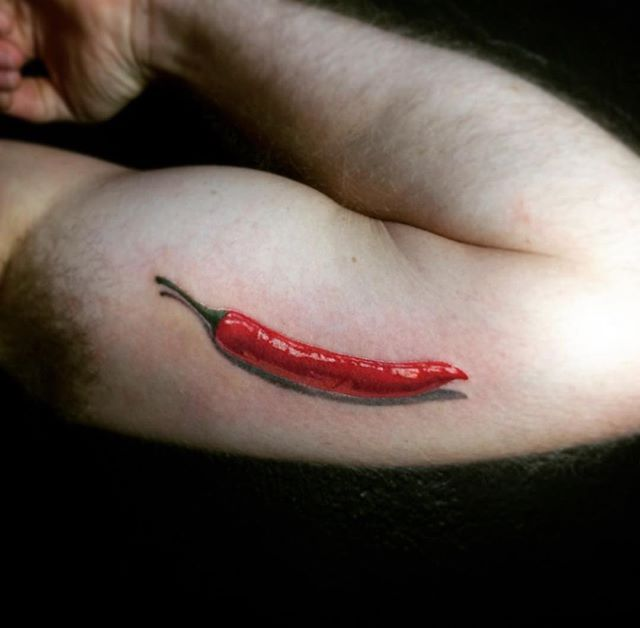 Amazing realistic red hot chilly pepper by the homie Sanot