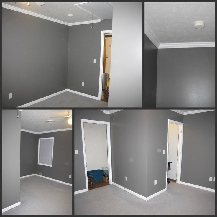 Office Wall Color Love This Grey Office Pinterest