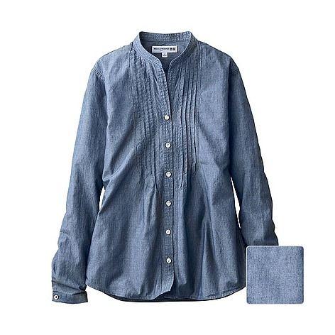 WOMEN シャンブレーシャツ(長袖) - UNIQLO ユニクロ