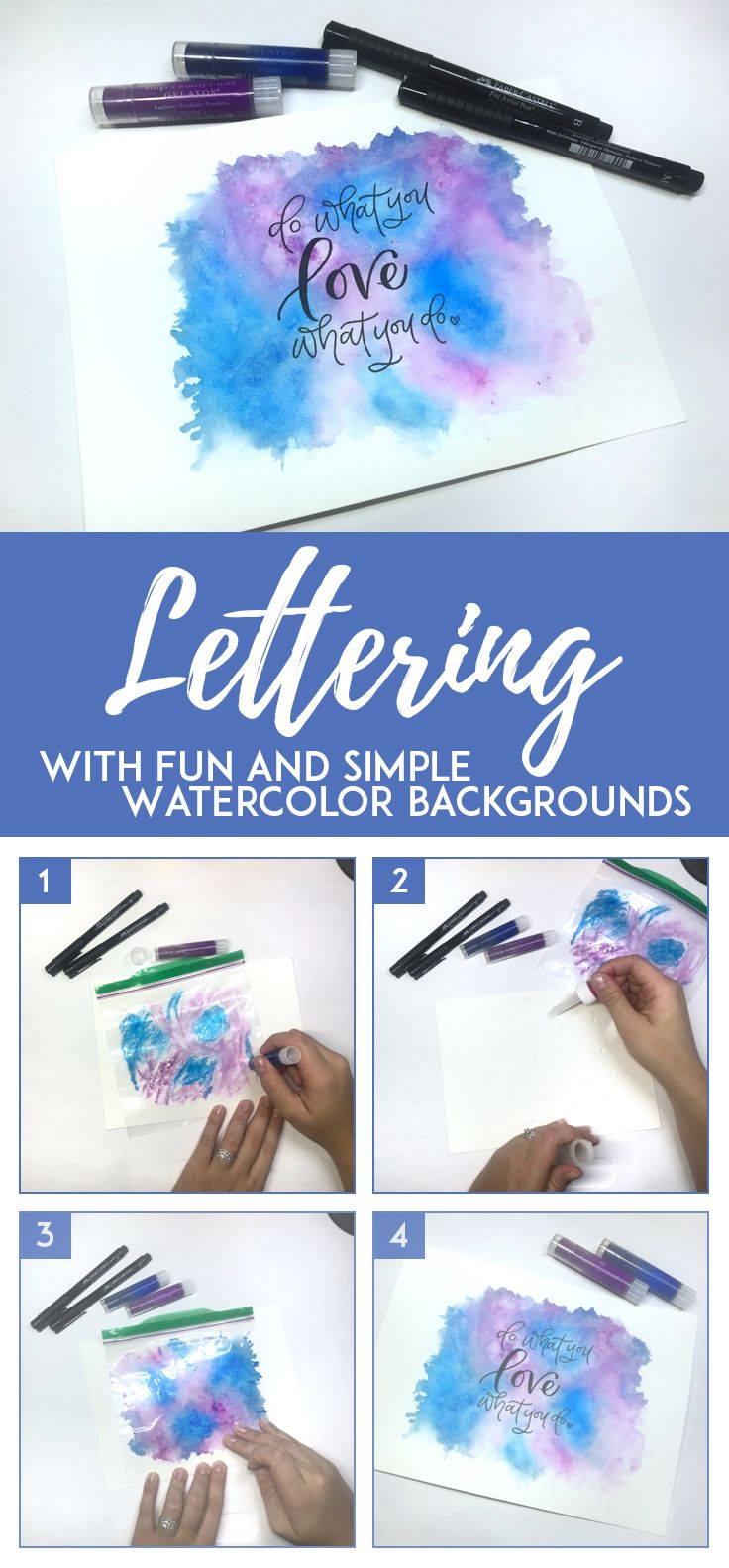 Watercolor Background Art With Gelatos Watercolor Background