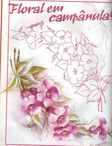 17 best images about clipart flowers on pinterest - Patrones para pintar en tela ...