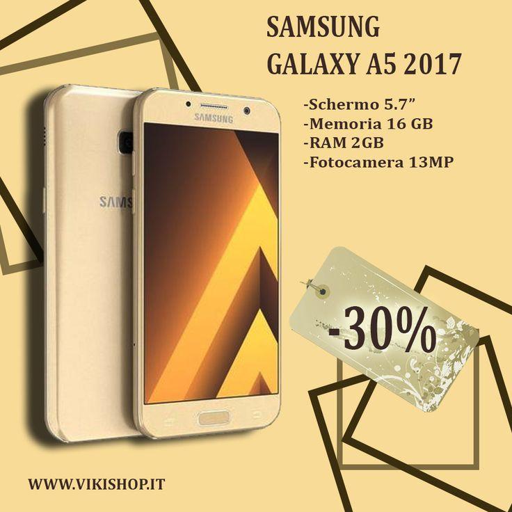 SAMSUNG GALAXY A5 2017 32GB ORO ITALIA ! ♥♥!in Promozione !♥♥! !♥♥! Spedizione Gratuita !♥♥! ► Acquista Ora: https://lnkd.in/fAxec4b #vikishop #samsung #spedizionegratis #shoppingonline #smartphone #samsunga5 #samsunga520 #a52017 #samsung