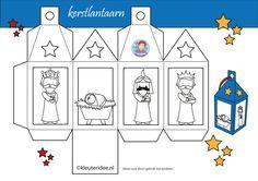 * Lantaarn kerst wit, wijzen uit het Oosten, kleuteridee.nl, free printable.