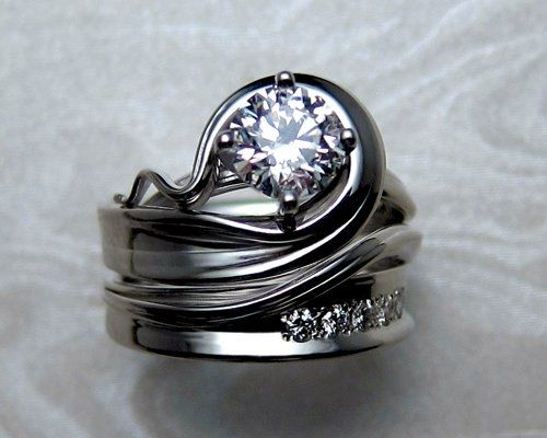 Handcrafted, custom made, unusual and unique engagement rings.