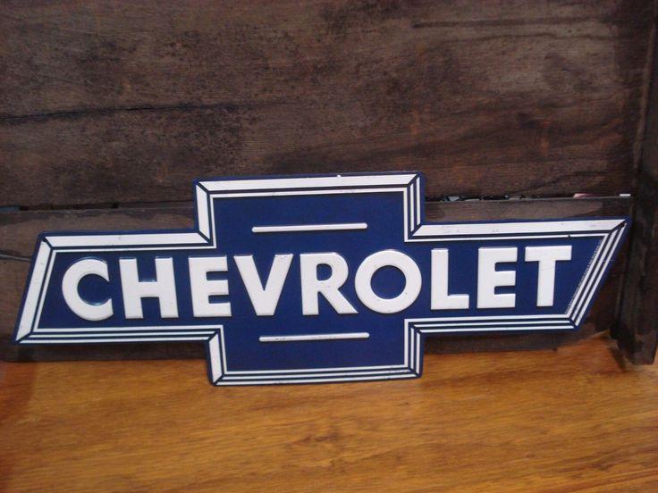 METAL DECOR* CHEVY CHEVROLET BOWTIE PLAQUE emblem logo blue truck car auto shop   eBay Motors, Parts & Accessories, Vintage Car & Truck Parts   eBay!