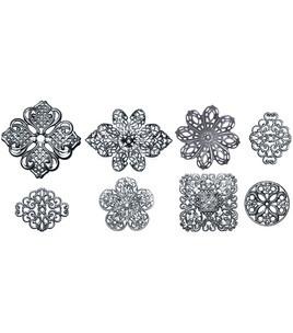 Boxed Filigree Embellishment Assortment 80 Pieces-Old Silver 1 & Embellishments at Joann.com