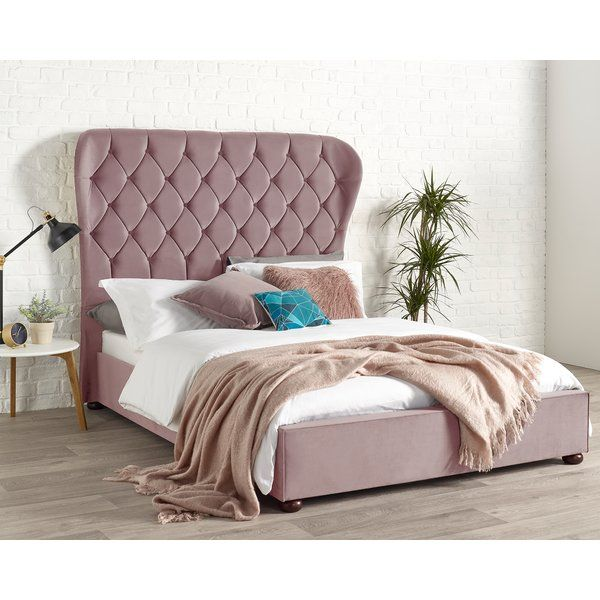 Maude Wingback Upholstered Bed Frame Upholstered Beds