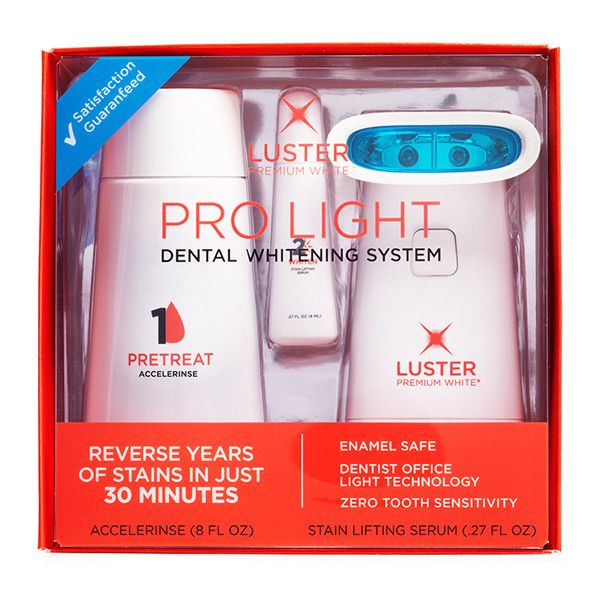 Luster™ Pro Light Teeth Whitening System - Best for: Reversing years of yellowing teeth, getting ready for a big event like a wedding or reunion, and starting your whitening regiment.