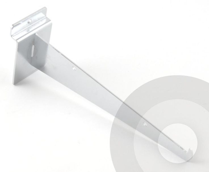 slatwall shelf bracket with safety tip to secure the glass or wood shelves the slatwall shelf bracket is available in 4 different lengths