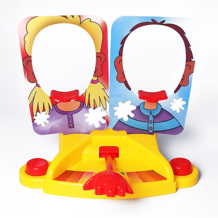 2016新しいダブル人パイケーキに顔家族ゲーム対決チャレンジいたずらジョークギャグアンチストレスおもちゃ子供のため