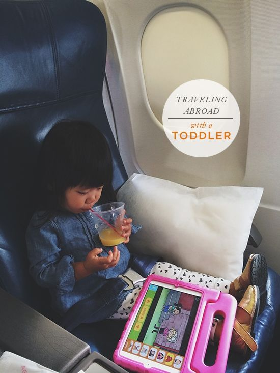 "Oh Joy | Traveling w/ a Toddler: ""Bring toys and games. One great trick is to wrap up little toys and games your kids have never seen before in tissue paper and unwrap one every hour of the plane ride. I love that idea. While I've never brought quite that many items, I usually bring a handful of little toys, crayons, a coloring book, stickers, lots of snacks, and the thing that saves us most of the time: An iPad (in a durable case) filled with educational games and shows."""